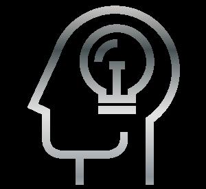 brain icons grey