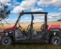 BMS Ranch Pony 700 4S EFI 4x4 Red Left tree