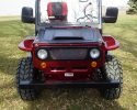 Mini Willys Jeep Burgundy Front scaled
