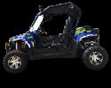 TrailMaster Challenger 300EX Blue Left