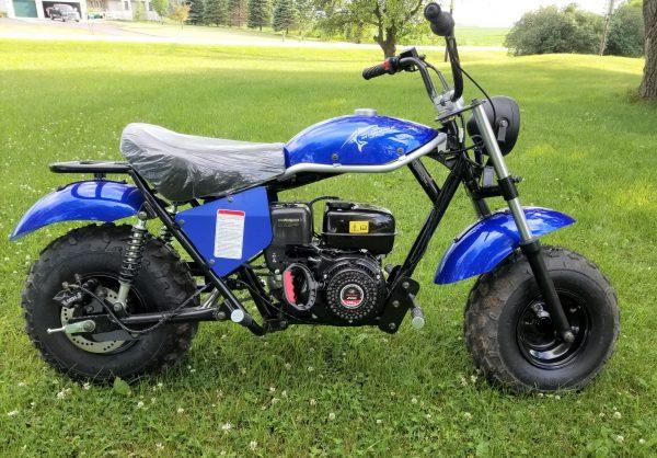 Trailmaster Mini Bike MB200 Main Blue Right scaled